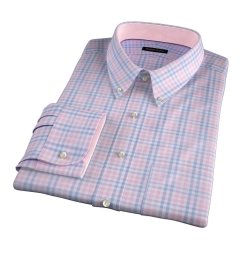 Adams Pink Multi Check Custom Made Shirt