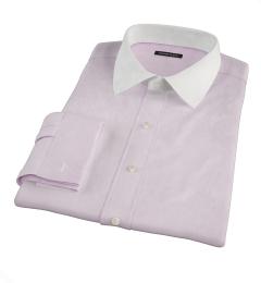 Carmine Light Pink Mini Grid Dress Shirt