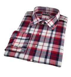 Dorado Red Plaid Custom Dress Shirt
