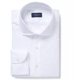 Portuguese White Slub Oxford Custom Made Shirt