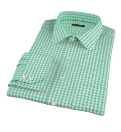 Canclini Light Green Gingham Fitted Shirt