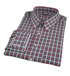 Red and Blue Block Plaid Custom Dress Shirt
