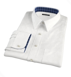 Grandi and Rubinelli White Linen Fitted Shirt