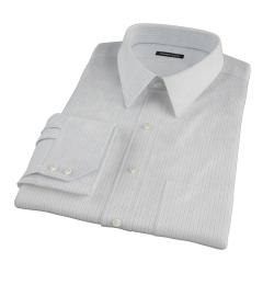 Lavender and Black Fine Satin Stripe Dress Shirt