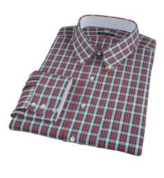 Red and Blue Block Plaid Custom Made Shirt