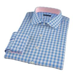Light Blue Large Gingham Dress Shirt