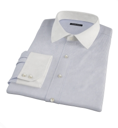 Grey Carmine Stripe Fitted Dress Shirt