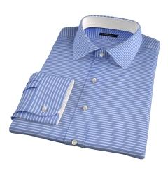Thomas Mason Blue Horizontal Stripe Dress Shirt