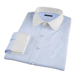 Greenwich Light Blue Broadcloth Tailor Made Shirt