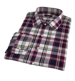Dorado Navy Plaid Fitted Shirt