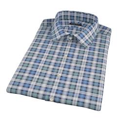 Vincent Green and Blue Plaid Short Sleeve Shirt