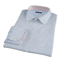 Greenwich Light Blue Broadcloth Custom Dress Shirt