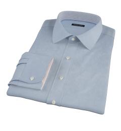 Sky Blue Wrinkle Resistant Cavalry Twill Custom Made Shirt