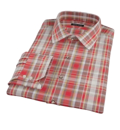 Canclini Red Yellow White Madras Men's Dress Shirt