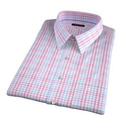 Adams Red Multi Check Short Sleeve Shirt