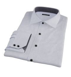 Carmine Grey Pencil Stripe Custom Dress Shirt