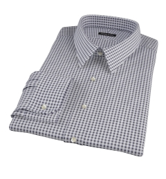 Black Medium Gingham Tailor Made Shirt