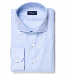 Albini Light Blue Oxford Chambray Fitted Dress Shirt