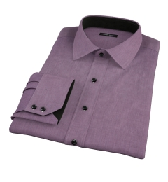 Jones Eggplant End on End Men's Dress Shirt