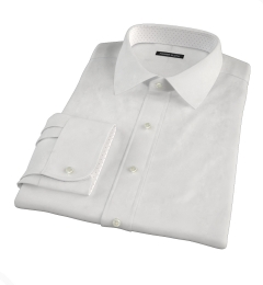 White Fine Cotton Linen Custom Made Shirt