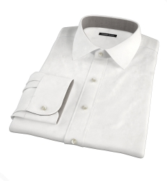Thomas Mason White Oxford Fitted Dress Shirt