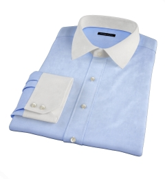Light Blue Extra Wrinkle-Resistant Twill Custom Dress Shirt