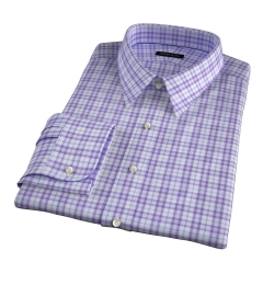 Varick Lavender Multi Check Fitted Shirt