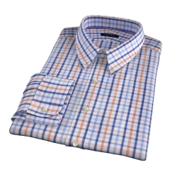 Catskill 100s Amber Multi Check Tailor Made Shirt
