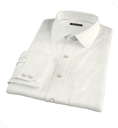 Greenwich Ivory Broadcloth Fitted Dress Shirt