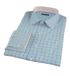 Thomas Mason Green Blue Check Tailor Made Shirt