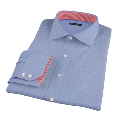 Dark Blue Glen Plaid Custom Dress Shirt