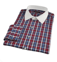 Vincent Red and Orange Plaid Custom Made Shirt