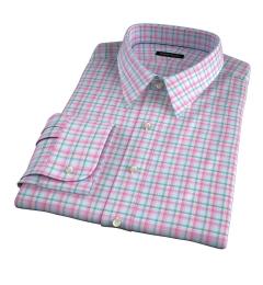 Thomas Mason Pink Spring Plaid Fitted Shirt