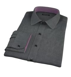 Jones Charcoal End on End Dress Shirt