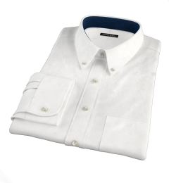 White Extra Wrinkle-Resistant Pinpoint Custom Made Shirt