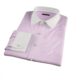 Morris Pink Small Check Custom Dress Shirt