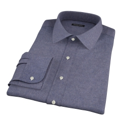 Slate Blue Heathered Flannel Fitted Shirt