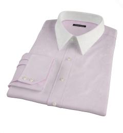 Carmine Light Pink Mini Grid Men's Dress Shirt