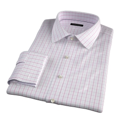 Verona Coral 100s Border Grid Custom Made Shirt