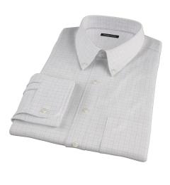 Mercer Red Twill Check Custom Dress Shirt
