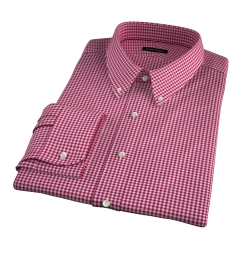 Melrose 120s Red Mini Gingham Custom Made Shirt