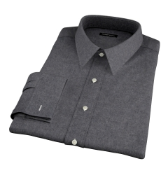 Canclini Cinder Beacon Flannel Fitted Dress Shirt