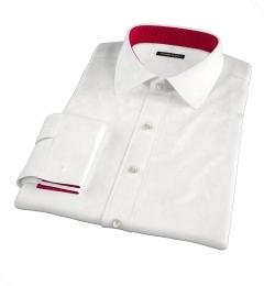 DJA Sea Island White Royal Twill Fitted Shirt