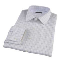 Thomas Mason Brown Multi Check Men's Dress Shirt