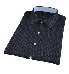 Black Japanese Flower Print Short Sleeve Shirt