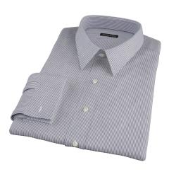 Carmine Black Pencil Stripe Fitted Dress Shirt
