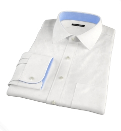 DJA Sea Island White Herringbone Men's Dress Shirt