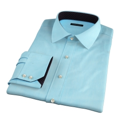 Genova 100s Aqua End-on-End Custom Made Shirt