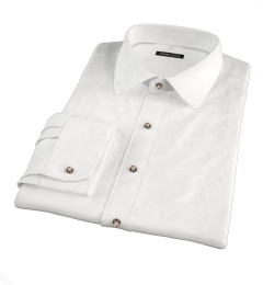 White 80s Broadcloth Fitted Shirt