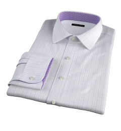 Verona Lavender 100s Border Grid Tailor Made Shirt